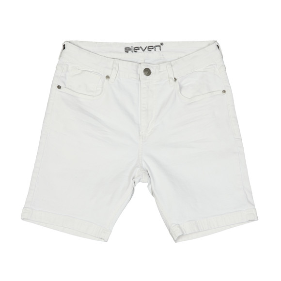 Eleven Degrees Mens White Essential Skinny Short main image