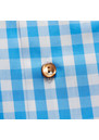 Slim Fit Check With Brown Buttons Shirt additional image