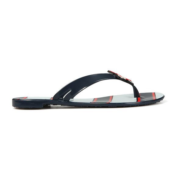 Karl Lagerfeld Womens Blue Captain Karl Thong Flip Flop main image
