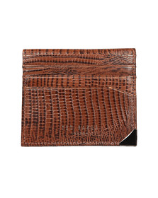 Ted Baker Mens Brown Lizard Card Holder