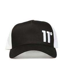 Eleven Degrees Mens Black Trucker Cap
