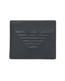 Emporio Armani Mens Blue Embossed Logo  Wallet