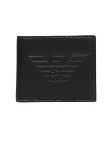 Emporio Armani Mens Black Embossed Logo  Wallet