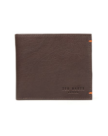 Ted Baker Mens Brown Leather/Suede Bifold Wallet