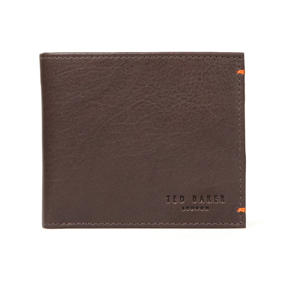 Ted Baker Mens Brown Leather/Suede Bifold Wallet main image