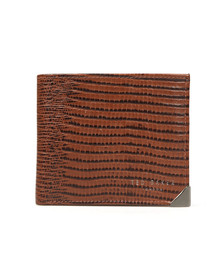 Ted Baker Mens Brown Leather Lizard Bifold Wallet