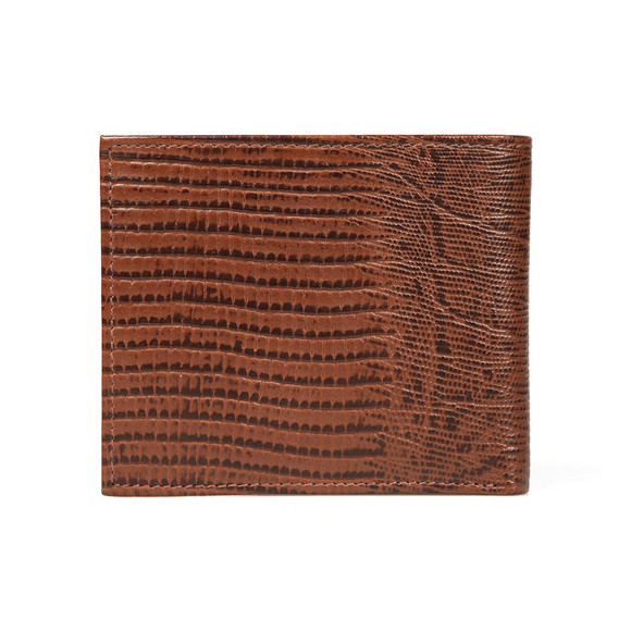 Ted Baker Mens Brown Leather Lizard Bifold Wallet main image