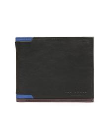 Ted Baker Mens Black Corner Detail Bifold Wallet
