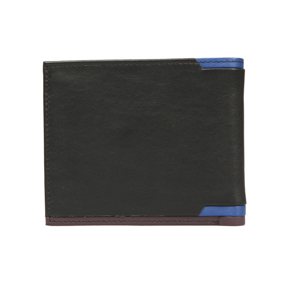 Ted Baker Mens Black Corner Detail Bifold Wallet main image