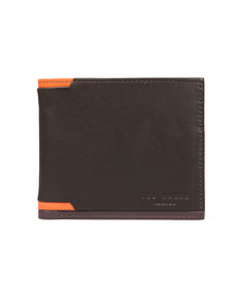 Ted Baker Mens Brown Corner Detail Bifold Wallet