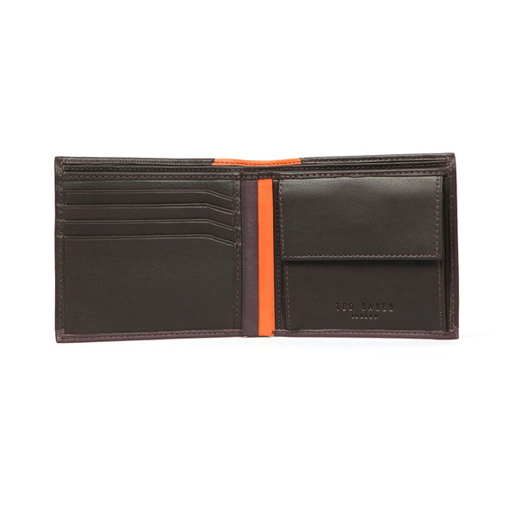 Ted Baker Mens Brown Corner Detail Bifold Wallet main image