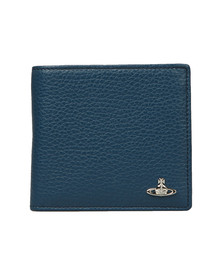 Vivienne Westwood Mens Blue Milano Horizontal Coin Pocket Wallet