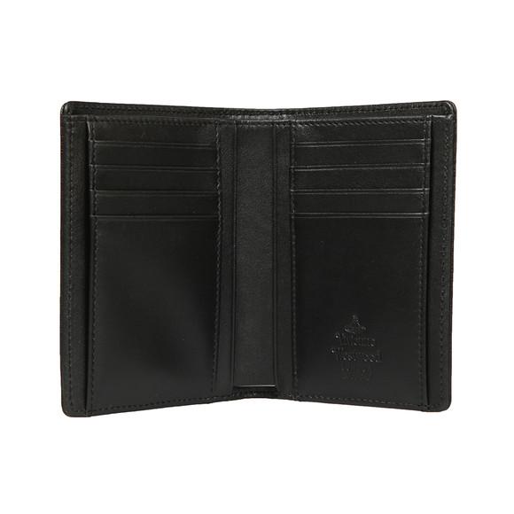Vivienne Westwood Mens Black Saffiano Flap Wallet main image