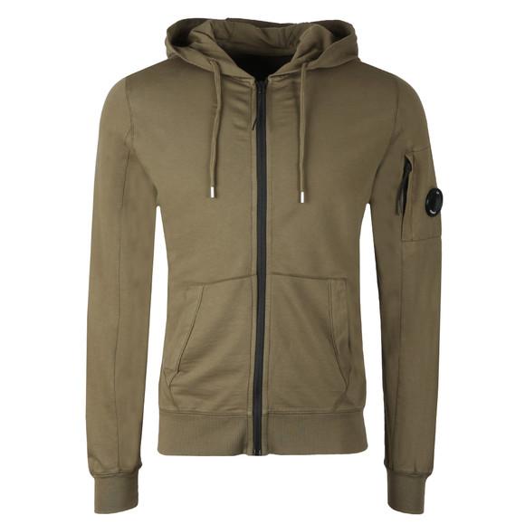 C.P. Company Mens Green Lightweight Full Zip Hoody main image