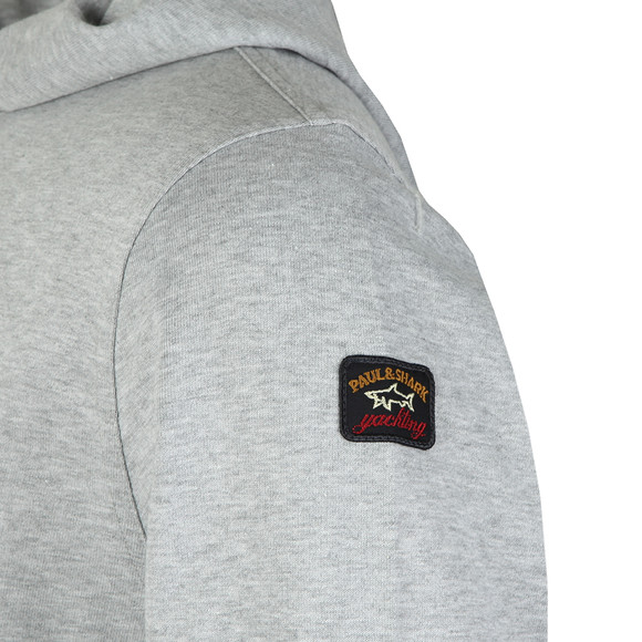 Paul & Shark Mens Grey Large Logo Overhead Hoody main image