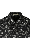 Scotch & Soda Mens Black The Poolside Short Sleeve Shirt
