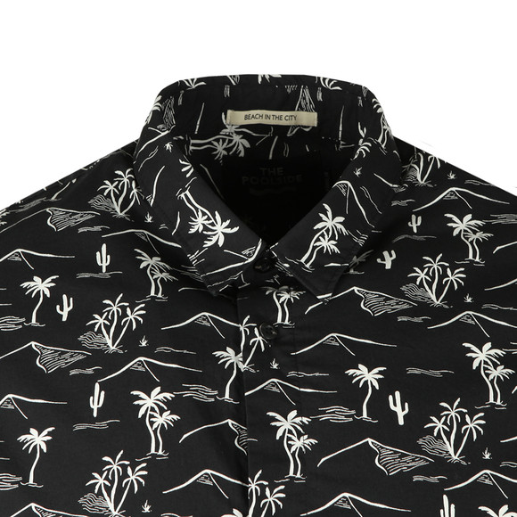 Scotch & Soda Mens Black The Poolside Short Sleeve Shirt main image