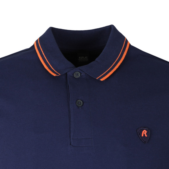 Replay Mens Blue S/S M3536 Polo main image