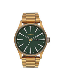 Nixon Mens Gold Nixon Sentry SS Watch