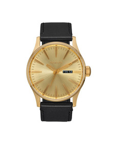 Nixon Unisex Gold Nixon Sentry Leather