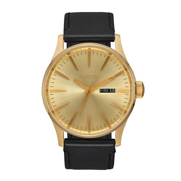 Nixon Unisex Gold Nixon Sentry Leather main image