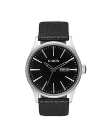 Nixon Unisex Black/gunmetal/black Nixon Sentry Leather