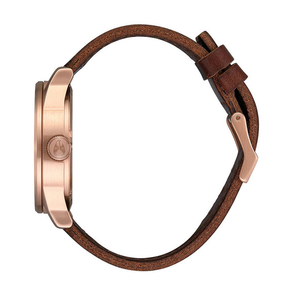 Nixon Unisex Rose Gold/navy/brown Nixon Sentry Leather main image