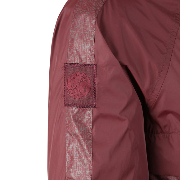Pretty Green Mens Red Reflective Bomber Jacket main image