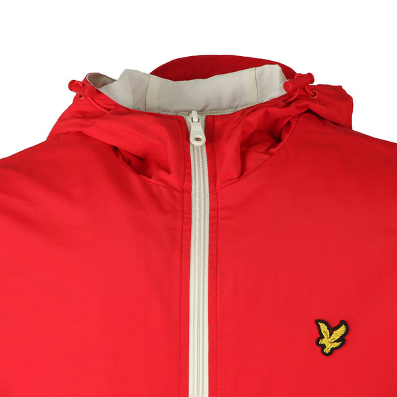 Lyle and Scott Mens Red Colour Block Jacket main image