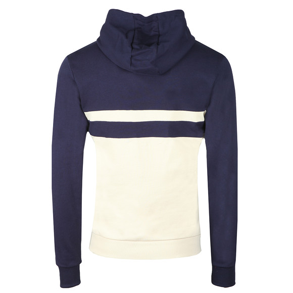 Lyle and Scott Mens Blue Yoke Stripe Pullover Hoodie main image
