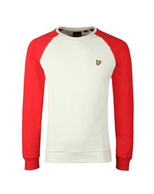 Lyle and Scott Mens Red Lightweight Raglan Sweatshirt