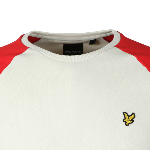 Lyle and Scott Mens Red Lightweight Raglan Sweatshirt main image