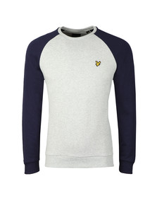 Lyle and Scott Mens Blue Lightweight Raglan Sweatshirt