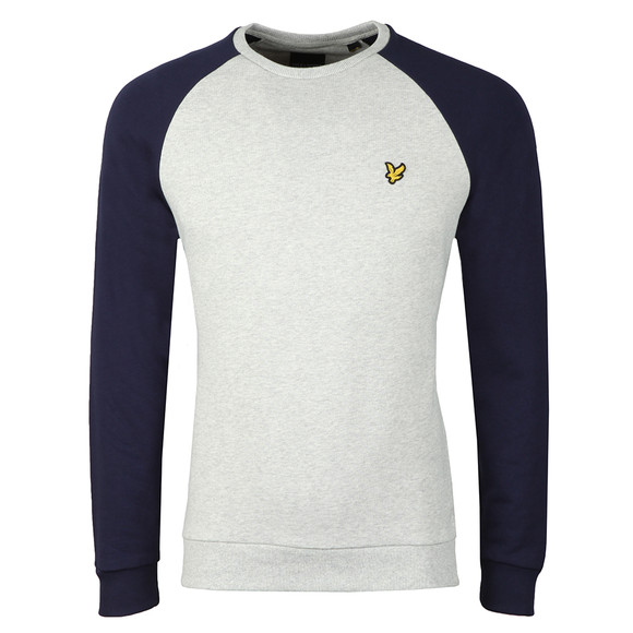 Lyle and Scott Mens Blue Lightweight Raglan Sweatshirt main image
