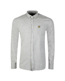 Lyle and Scott Mens Grey L/S Linen Shirt