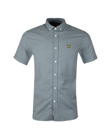 Lyle and Scott Mens Blue S/S Coloured Stitch Shirt