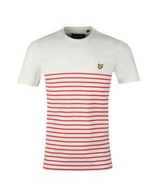 Lyle and Scott Mens Red Breton Stripe T-Shirt