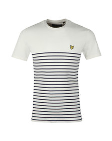 Lyle and Scott Mens Blue Breton Stripe T-Shirt