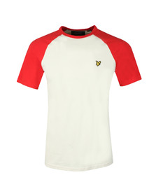 Lyle and Scott Mens Off-white Raglan Ringer Tee
