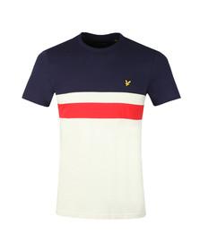 Lyle and Scott Mens Blue Yoke Stripe T-Shirt