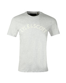 Lyle and Scott Mens Grey L&S Logo T-Shirt