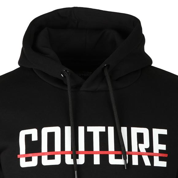 Fresh Couture Mens Black Large Logo Core Hoodie main image