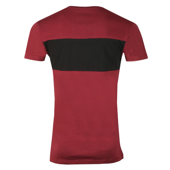 Fresh Couture Mens Red Block T Shirt main image