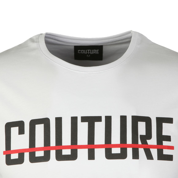 Fresh Couture Mens White Core Large Logo T Shirt main image