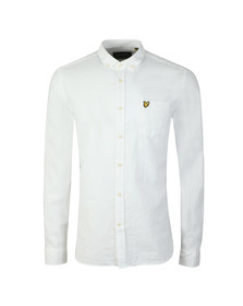 Lyle and Scott Mens White L/S Linen Shirt