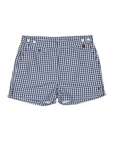 Luke Mens Blue Shorty Check Swim Short