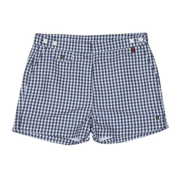 Luke 1977 Mens Blue Shorty Check Swim Short main image