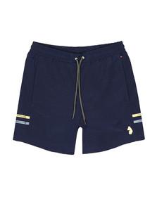 Luke Mens Blue Ragy Regular Swim Short