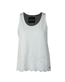 Superdry Womens White Pacific Broderie Tank