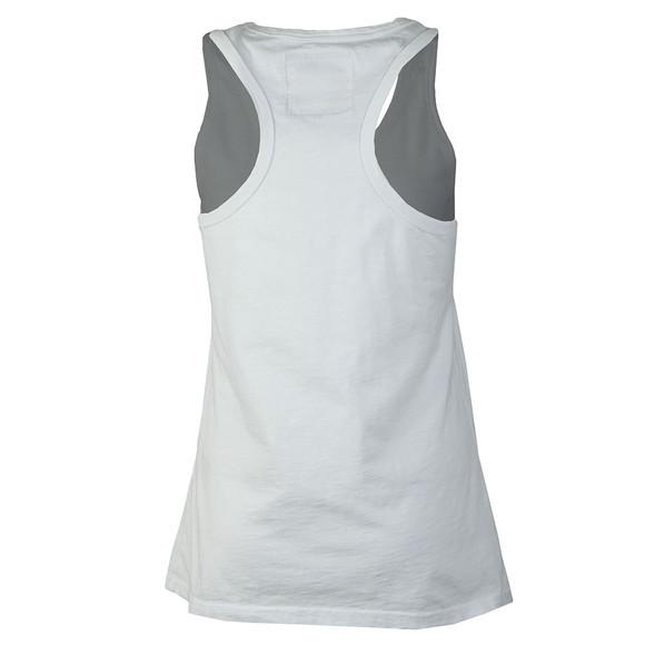 Superdry Womens White Vintage Logo Emboss Entry Vest main image